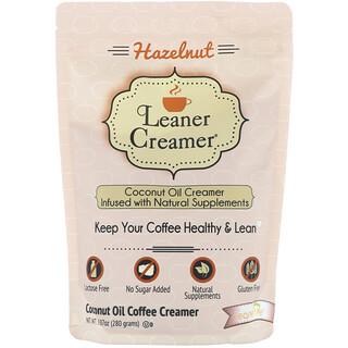 Leaner Creamer, Coconut Oil Coffee Creamer, Hazelnut, 9.87 oz (280 g)