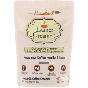 Leaner Creamer, Coconut Oil Coffee Creamer, Hazelnut, 9.87 oz (280 g) отзывы покупателей