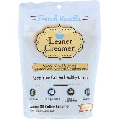 Купить Leaner Creamer Заменитель сливок для кофе из кокосового масла, французская ваниль, 280г