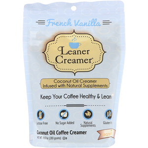 Leaner Creamer, Coconut Oil Coffee Creamer, French Vanilla, 9.87 oz (280 g) отзывы покупателей