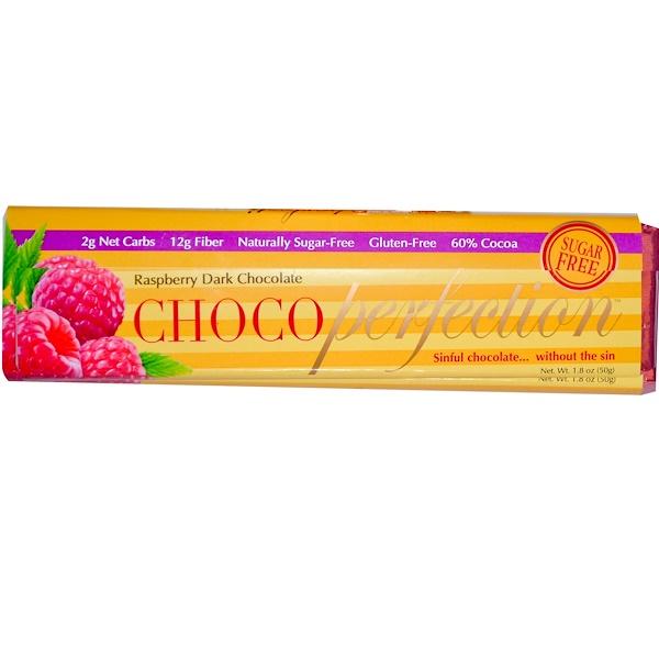 LowCarb Specialties, Inc., ChocoPerfection, Raspberry Dark Chocolate, Sugar Free, 1.8 oz (50 g) (Discontinued Item)