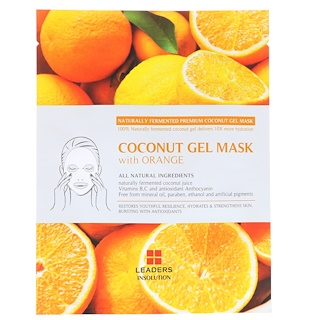 Leaders, Coconut Gel Mask with Orange, 1 Mask, 30 ml