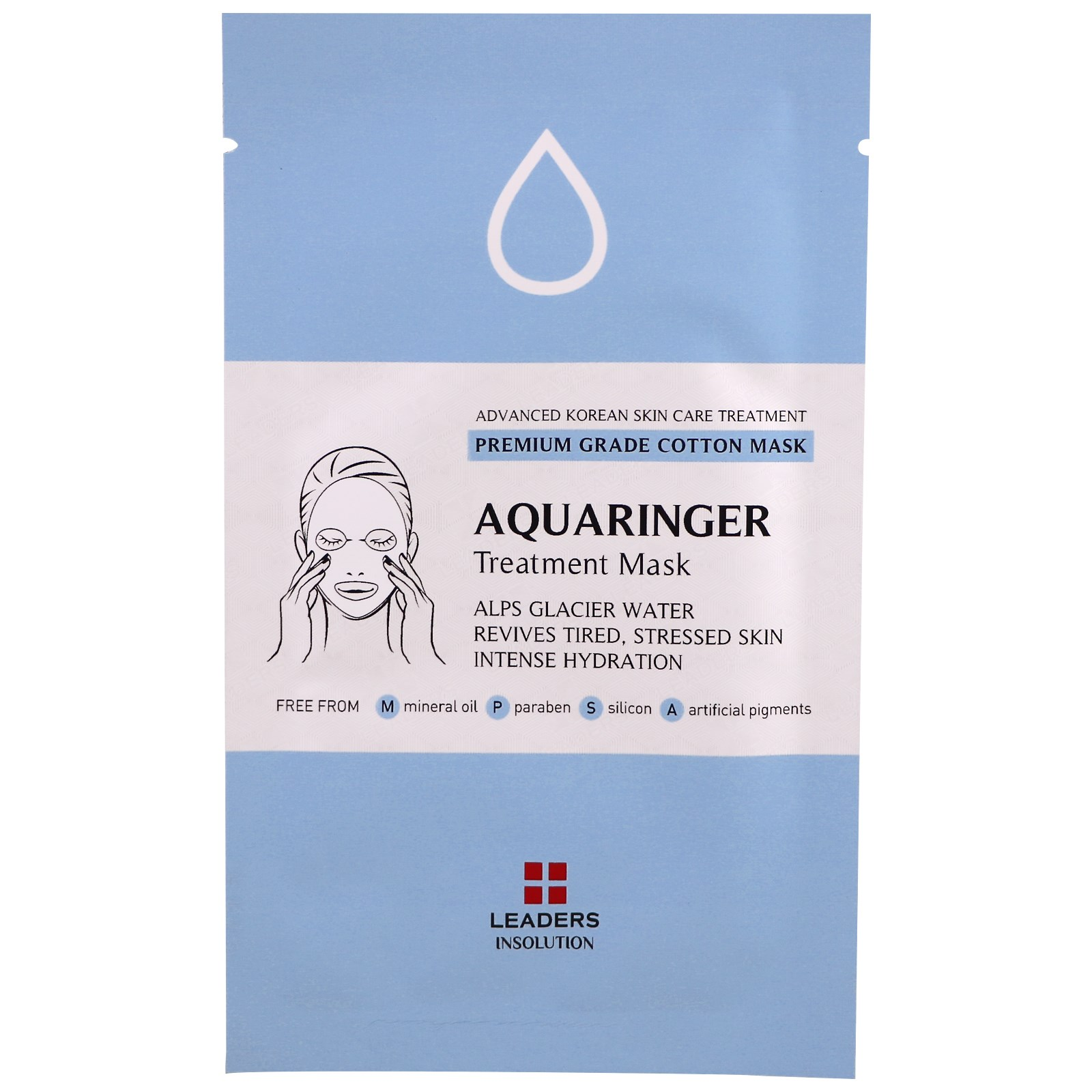 Leaders, Aquaringer Treatment Mask, 1 Mask