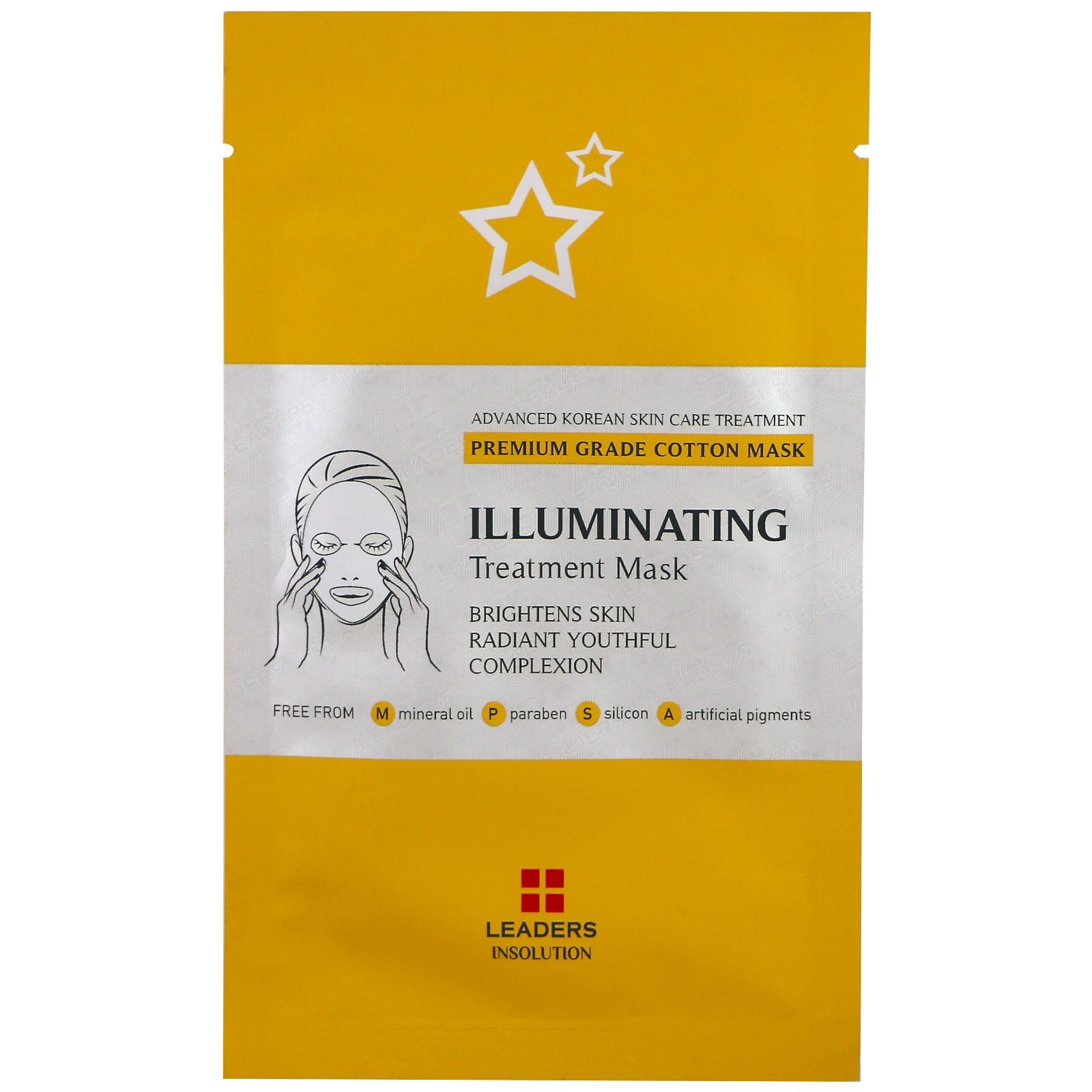 Leaders, Осветляющая лечебная маска, 1 маска, 25 мл