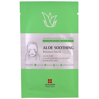 Leaders, Aloe Soothing Renewal Mask, 1 Mask