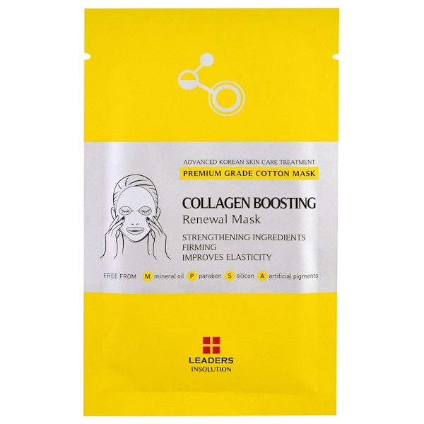 Leaders, Collagen Boosting Renewal Mask, 1 Sheet