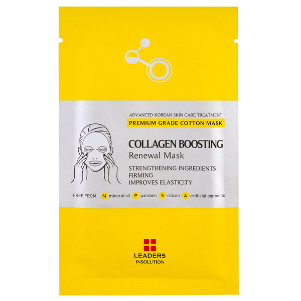 Leaders, Collagen Boosting Renewal Mask, 1 Sheet, 25 ml (Discontinued Item)