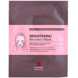 Leaders, Coconut Gel Brightening Recovery Beauty Mask, 1 Sheet, 30 ml