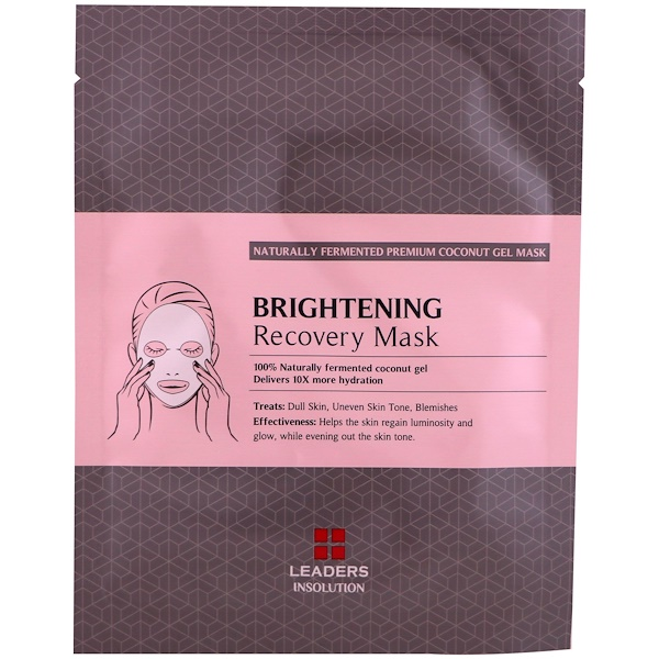 Leaders, Coconut Gel Brightening Recovery Mask, 1 Mask, 30 ml