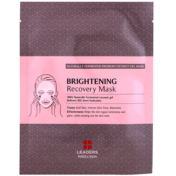 Leaders, Coconut Gel Brightening Recovery Beauty Mask, 1 Sheet, 30 ml
