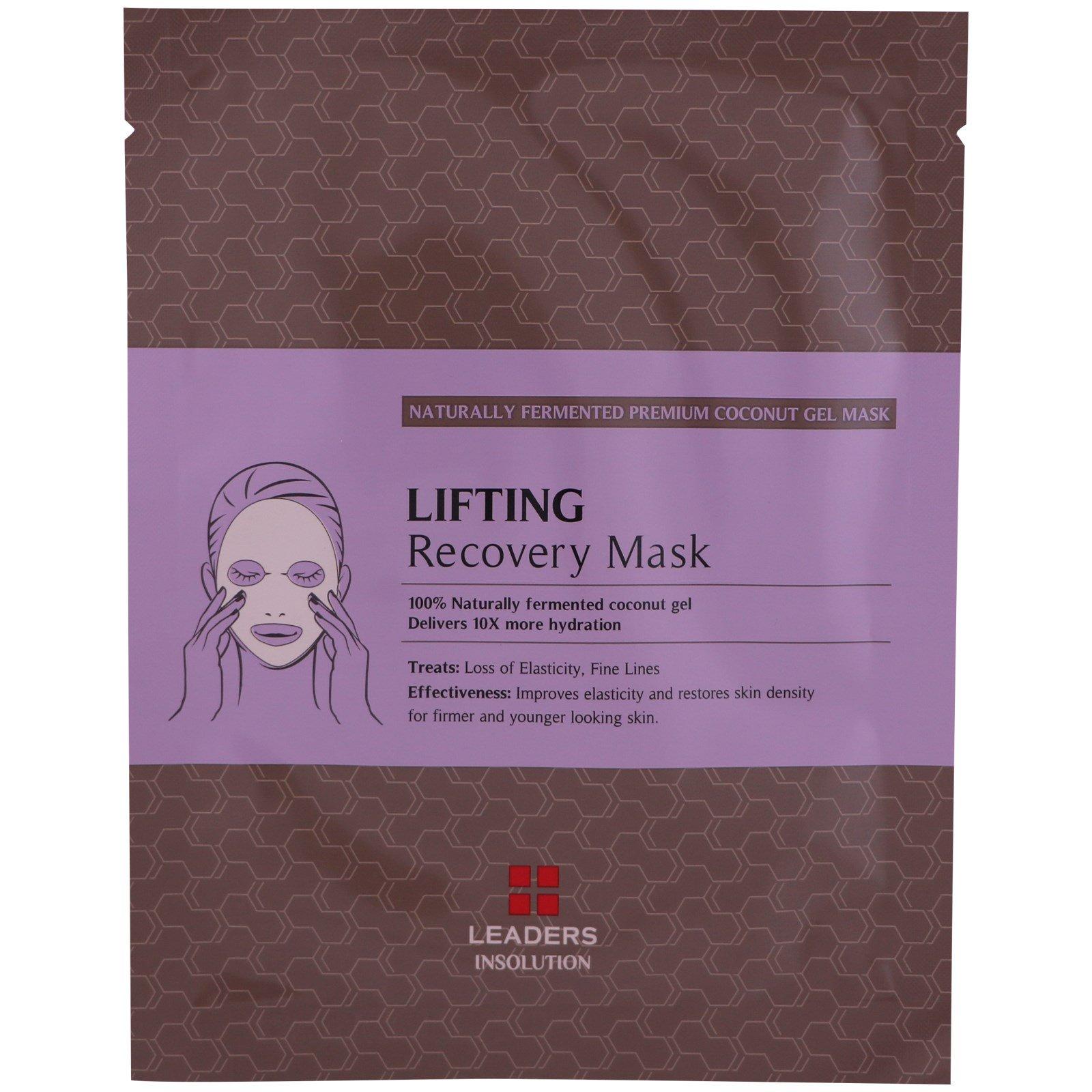 Leaders, Восстанавливающая маска с эффектом лифтинга с кокосовым гелем, 1 маска, 30 мл