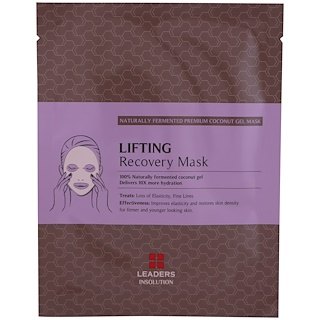 Leaders, Coconut Gel Lifting Recovery Mask, 1 Mask, 30 ml