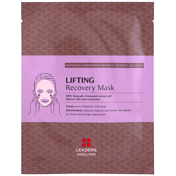Leaders, Coconut Gel Lifting Recovery Beauty Mask, 1 Sheet, 30 ml