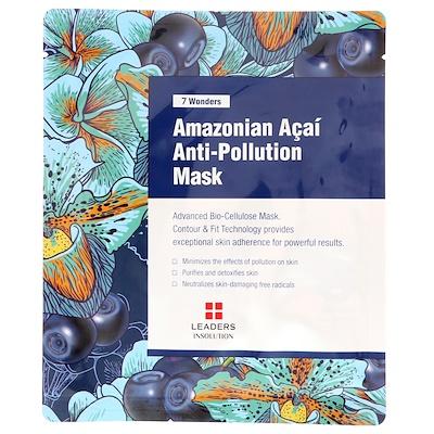 Leaders 七大奇蹟,亞馬遜巴西莓果防污染面膜,1 張,30 毫升