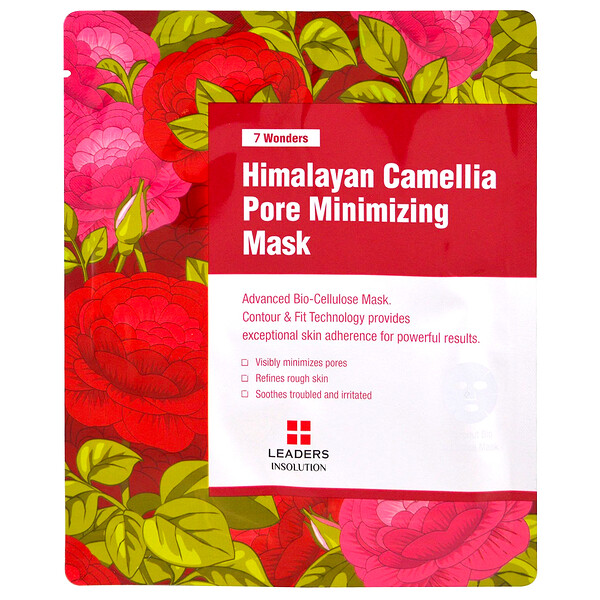 Leaders, 7 Wonders, Himalayan Camellia Pore Minimizing Mask, 1 Sheet, 1.01 fl oz (30 ml)