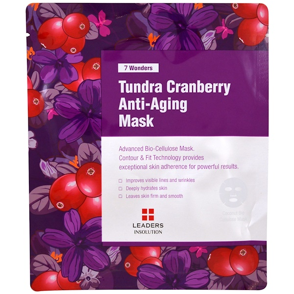 7 Wonders, Tundra Cranberry Anti-Aging Mask, 1 Sheet, 1.01 fl oz (30 ml)