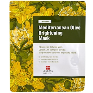 Leaders, Mediterranean Olive Brightening Mask, 1 Mask