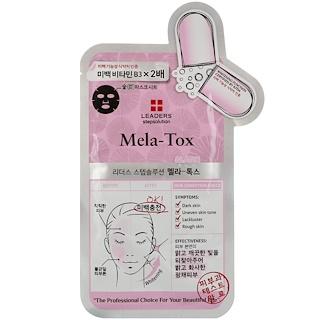 Leaders, ステップソリューション、Mela-Tox チャコールマスク、1枚、25 ml