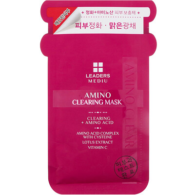 Mediu, Amino Clearing Mask, 1 Sheet, 25 ml