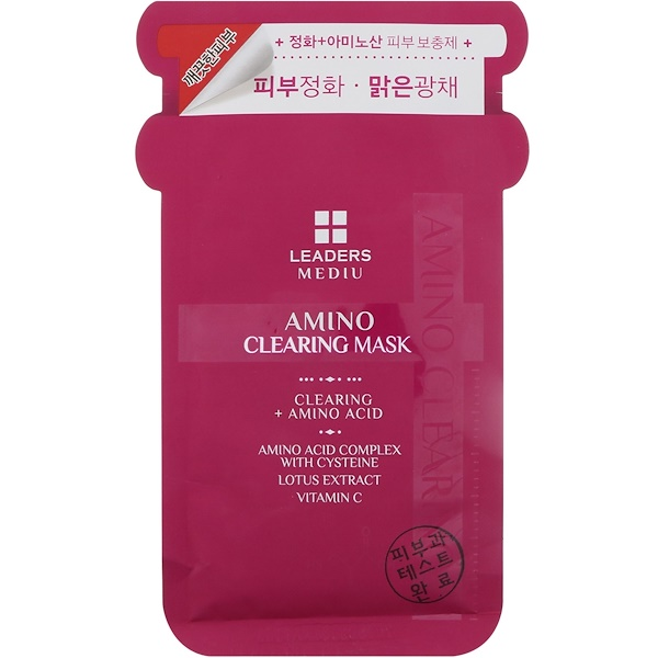 Leaders, Mediu, Amino Clearing Mask, 1 Mask, 25 ml