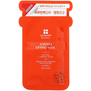 Leaders, Mediu, подтягивающая маска с аминокислотами, 1шт., 25мл