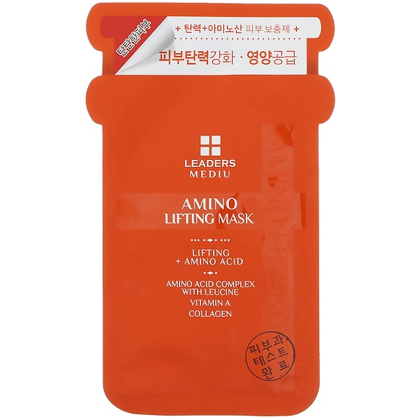 Leaders, Mediu, Amino Lifting Mask, 1 Sheet, 25 ml