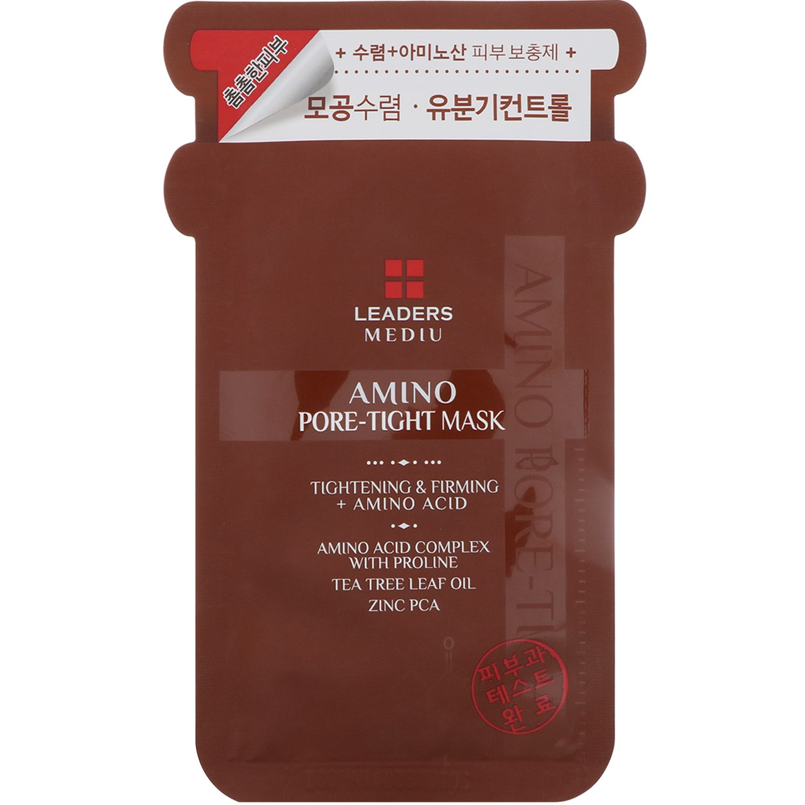 Leaders, Mediu, Amino Pore-Tight Mask, 1 Mask, 25 ml