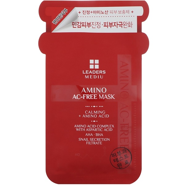 Leaders, Mediu, Amino AC-Free Mask, 1 Mask, 25 ml