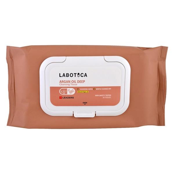 Leaders, Labotica, Argan Oil Deep Cleansing Tissue, 50 Tissues