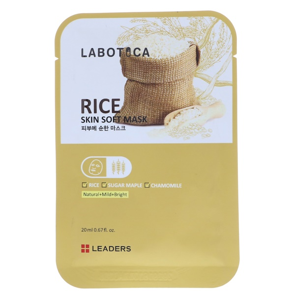 Leaders, Labotica, Rice Skin Soft Mask, 1 Sheet, 20 ml (Discontinued Item)