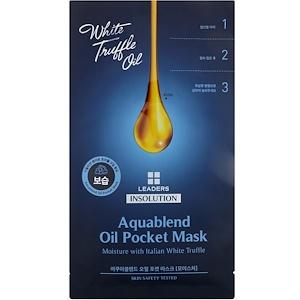 Leaders, Insolution, Aquablend Oil Pocket Mask, Moisture, 1 Sheet, 27 ml отзывы