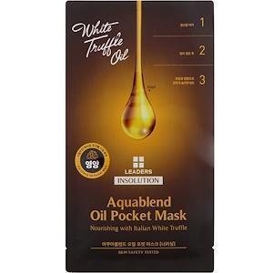 Leaders, Insolution, Aquablend Oil Pocket Mask, Nourishing, 1 Sheet, 27 ml отзывы