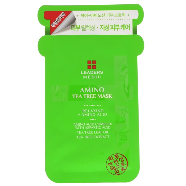 Leaders, Mediu, Amino Tea Tree Mask, 1 Mask, 25 ml