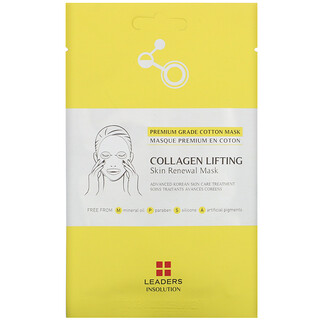 Leaders, Collagen Lifting, Skin Renewal Beauty Mask, 1 Sheet, 0.84 fl oz (25 ml)