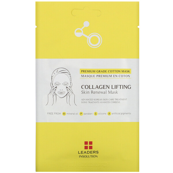 Leaders, Collagen Lifting, Skin Renewal Mask, 1 Sheet, 0.84 fl oz (25 ml)