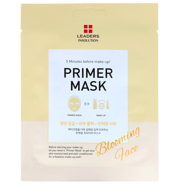 Leaders, Primer Beauty Mask, Blooming Face, 1 Sheet, 0.84 fl oz (25 ml)