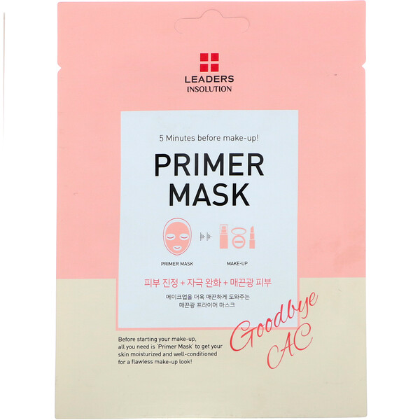 Leaders, Primer Mask, Goodbye AC, 1 Sheet, 0.84 fl oz (25 ml)