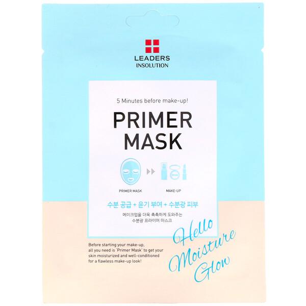 Leaders, Primer Beauty Mask, Hello Moisture Glow, 1 Sheet, 0.84 fl oz (25 ml)