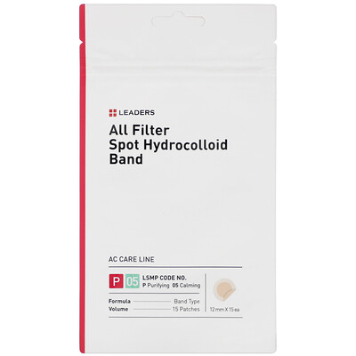 Leaders All Filter Spot Hydrocolloid Band, 15 Patches
