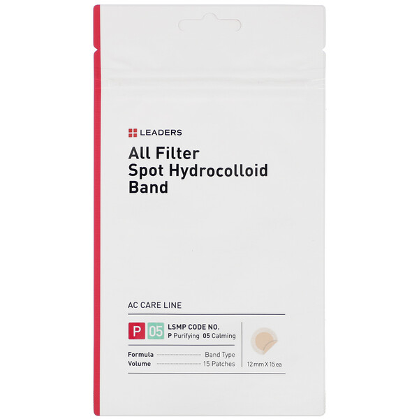 Leaders, All Filter Spot Hydrocolloid Band, 15 Patches