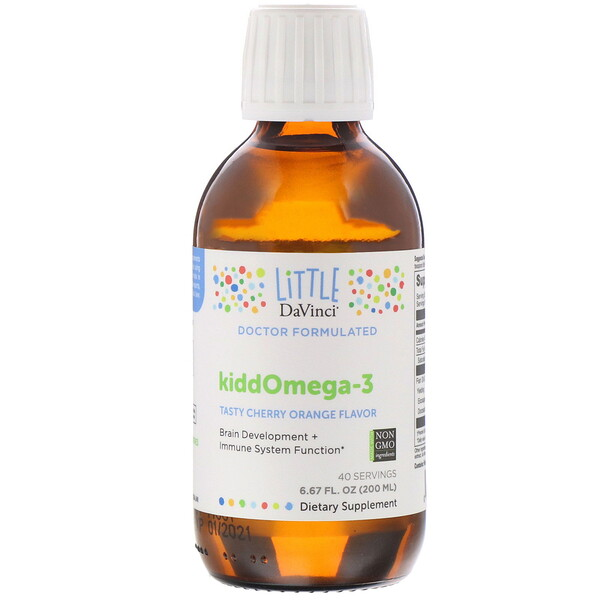 KiddOmega-3, Tasty Cherry Orange Flavor, 6.67 fl oz (200 ml)