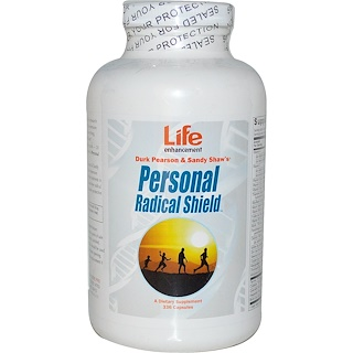 Life Enhancement, Durk Pearson & Sandy Shaw's, Personal Radical Shield, 336 Capsules