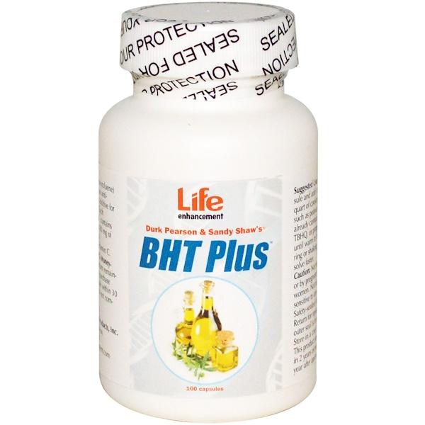 Life Enhancement, Durk Pearson & Sandy Shaw BHT 增強劑,100粒膠囊