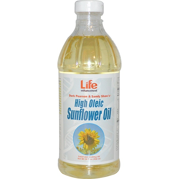 Life Enhancement, High Oleic Sunflower Oil, 16 fl oz (450 ml) (Discontinued Item)