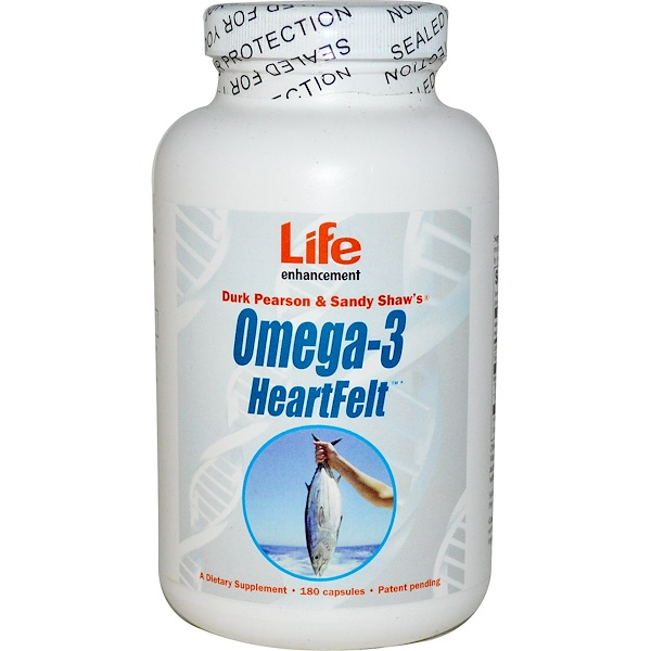 Life Enhancement, Omega-3 HeartFelt, 180 Capsules (Discontinued Item)