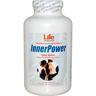 Life Enhancement, Durk Pearson & Sandy Shaw's, Inner Power with Xylitol Drink Mix, Cherry Flavored, 1 lb 2 oz (513 g)
