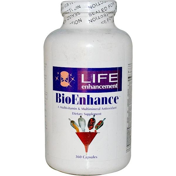 Life Enhancement, BioEnhance, A Multivitamin & Multimineral Antioxidant, 360 Capsules (Discontinued Item)