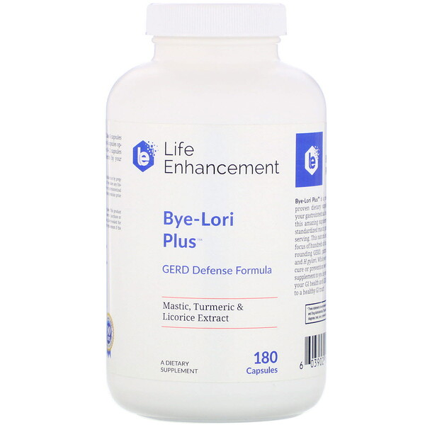 Life Enhancement, Bye-Lori Plus, 180 Capsules