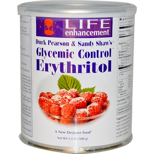 Life Enhancement, Glycemic Control, Erythritol, 1.1 lb (500 g) (Discontinued Item)