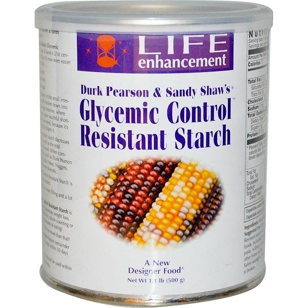 Life Enhancement, Устойчивый крахмал для гликемического контроля, 1.1 фунта (500 г) (Discontinued Item)